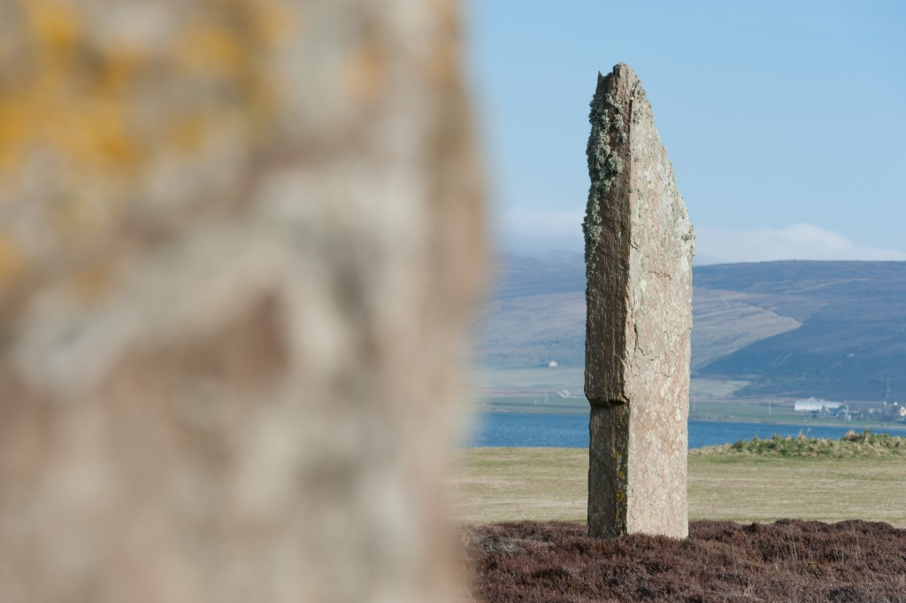 Two large standing stones, part of the Ring of Brodgar