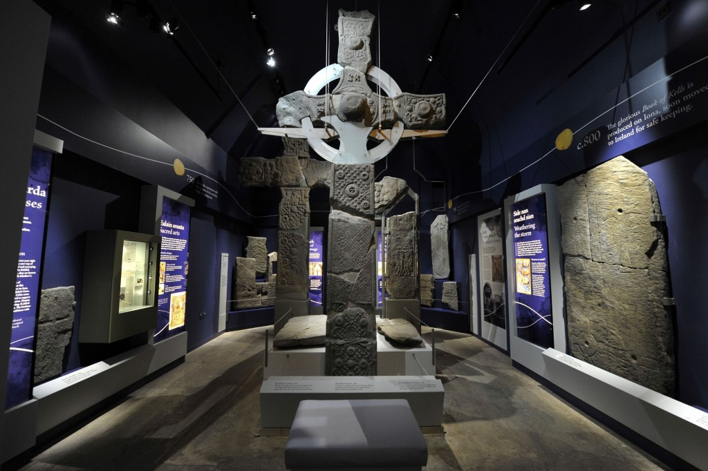 St John's Cross on display in Iona Abbey Infirmary Museum.