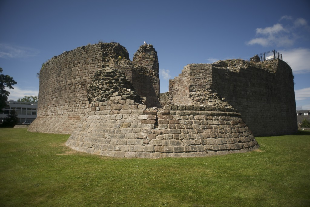 The round towers at Rothesay Castle
