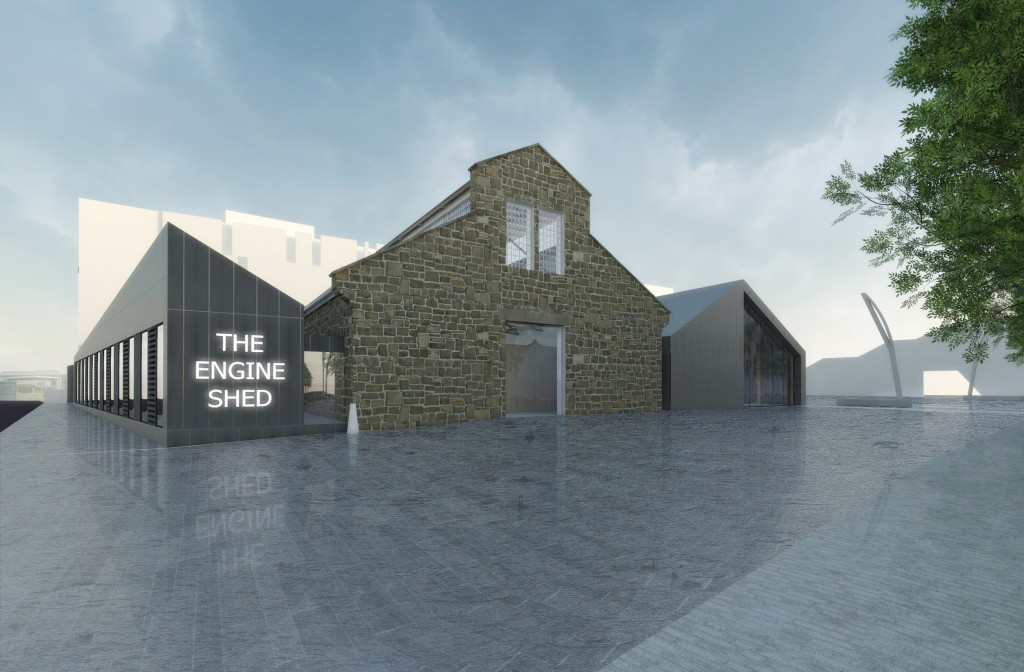 An illustration how the Engine Shed will look like when finished