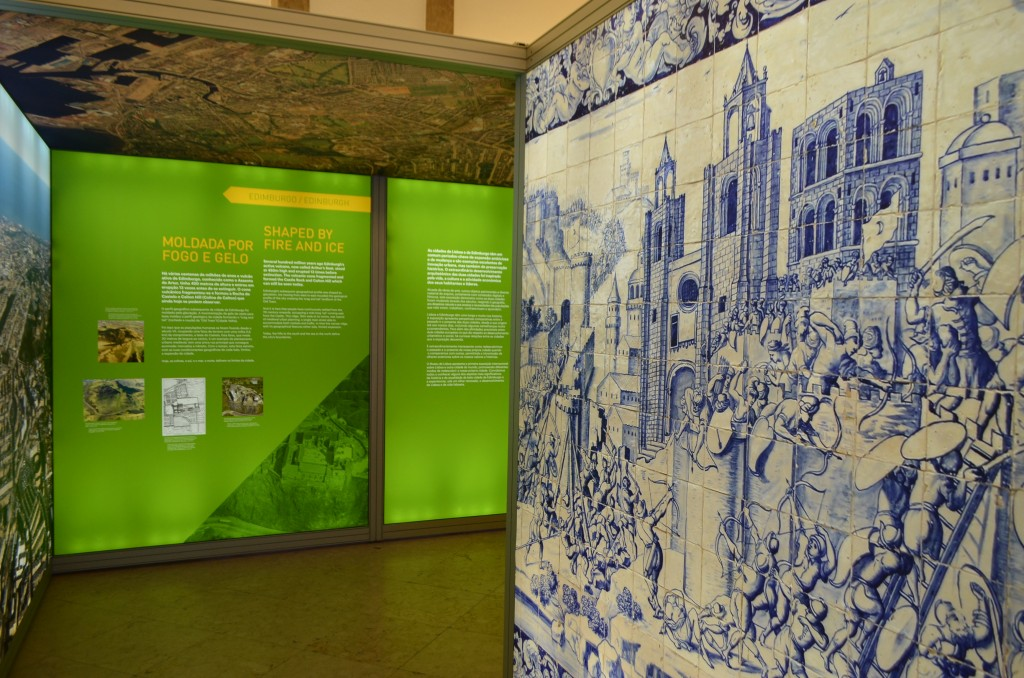 Detail of A Tale of Two Cities - Lisbon and Edinburgh Exhibition in the Museum of Lisbon