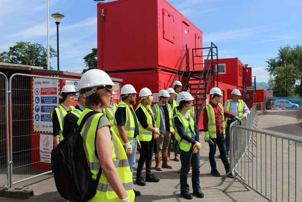 Fit for the Future Members start the tour at the Engine Shed site