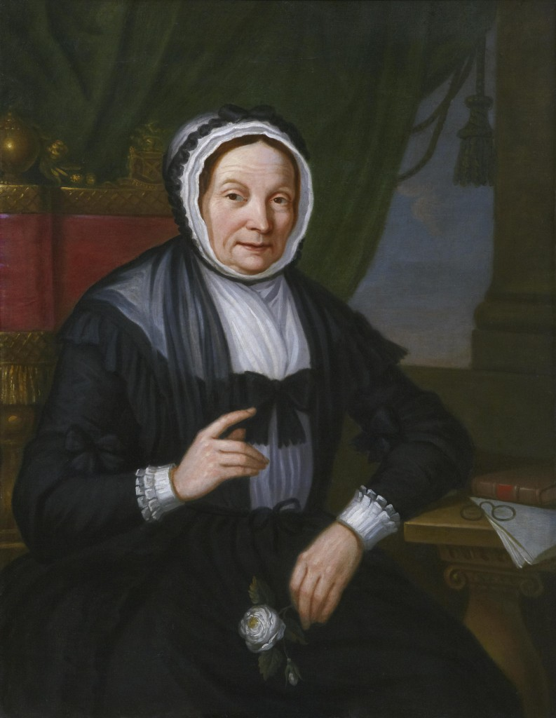 Oil painting of Catherine Bruce