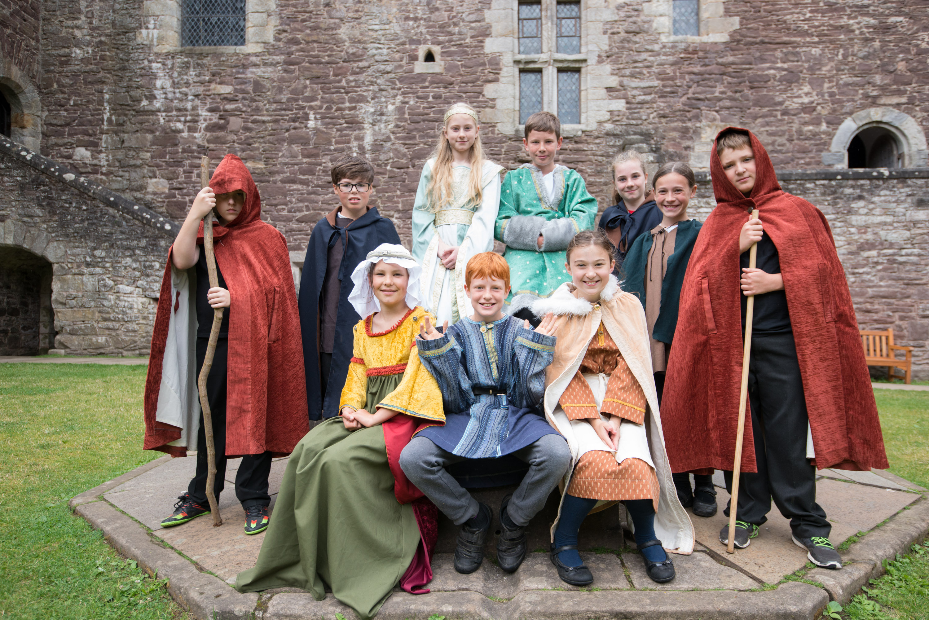 The Junior Tour Guides at Doune Castle