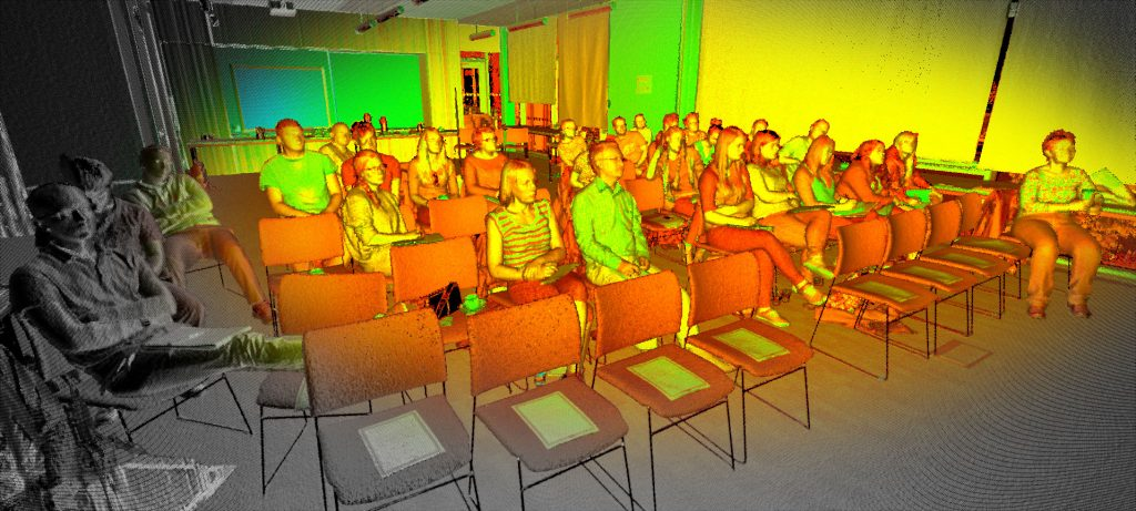 The summer school audience was scanned during James' presentation