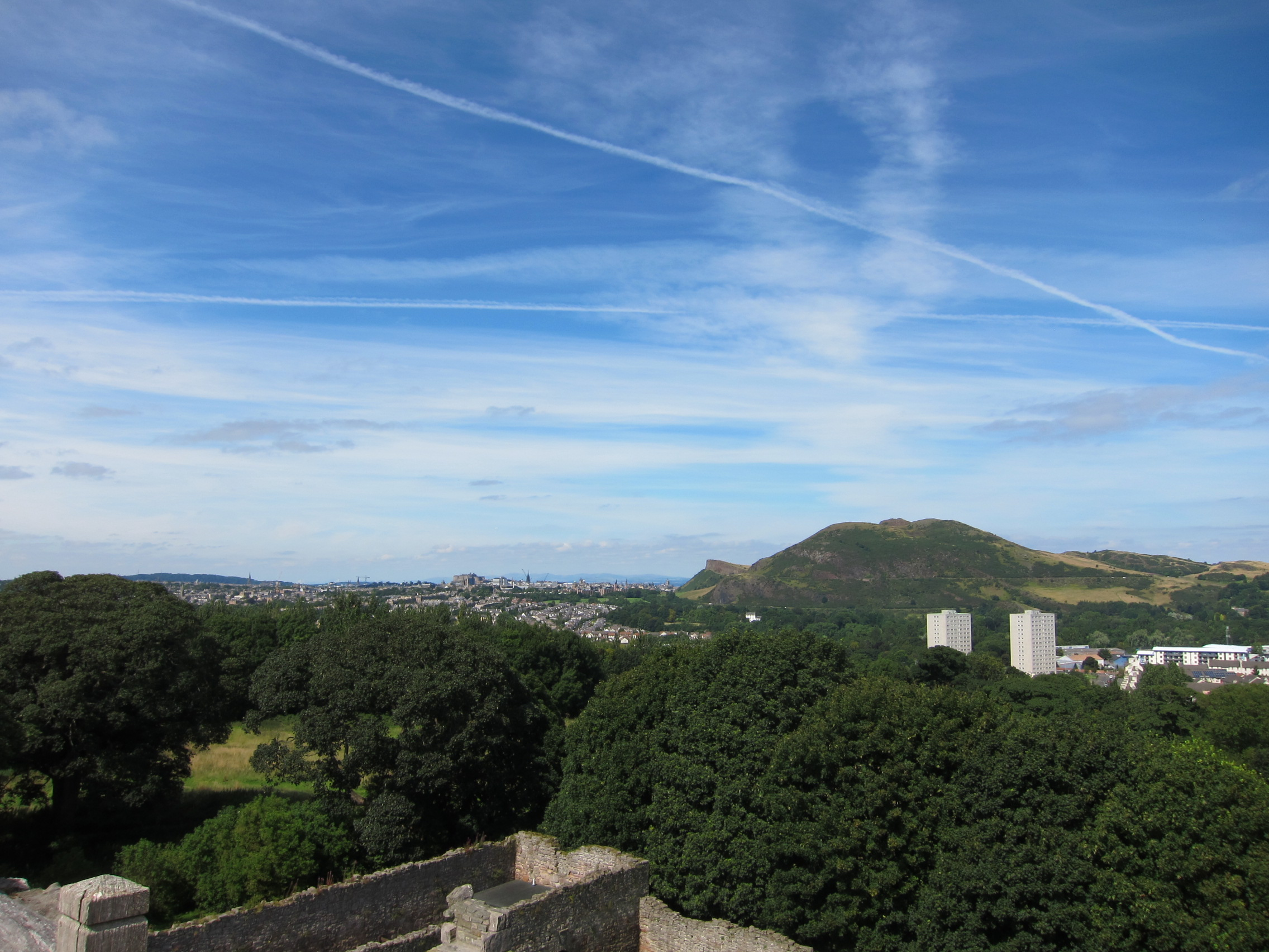 View from Craigmillar Castle