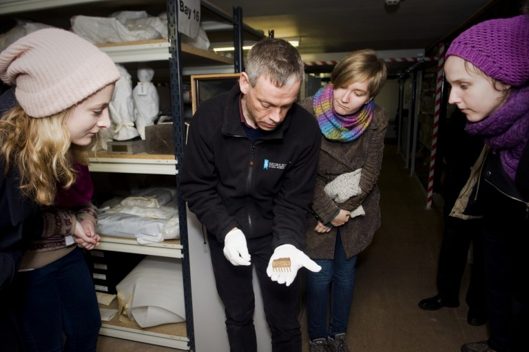 Collections Registrar Hugh Morrison has conducted several tours of one of our object stores for HES colleagues