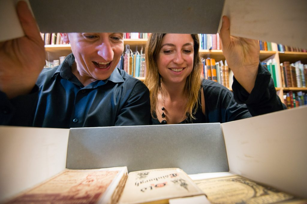 HES staff Neil Gregory and Chiara Ronchini explore the archives at John Sinclair House