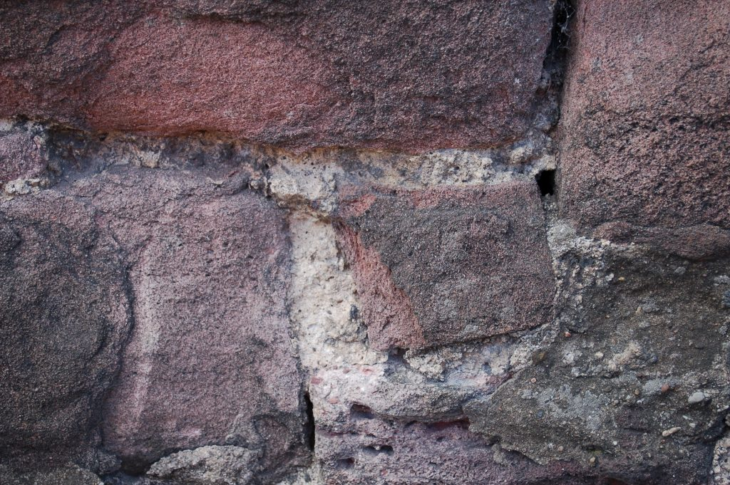 close up of lime mortar