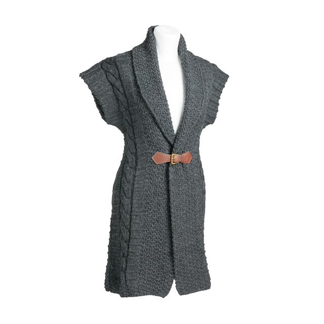 Charcoal Cardigan with Buckle