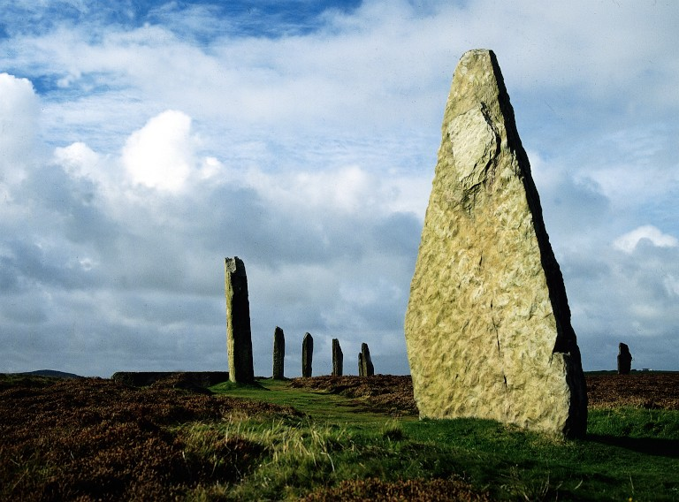 The Ring of Brodgar, an ancient set of standing stones in Orkney