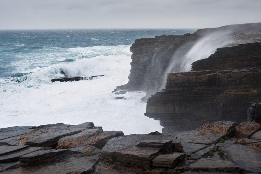 Cliffs near Skara Brae on the island of Orkney