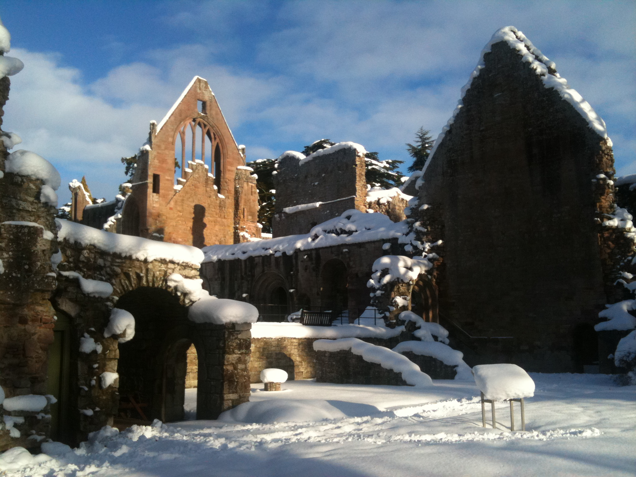 Dryburgh Abbey in winter
