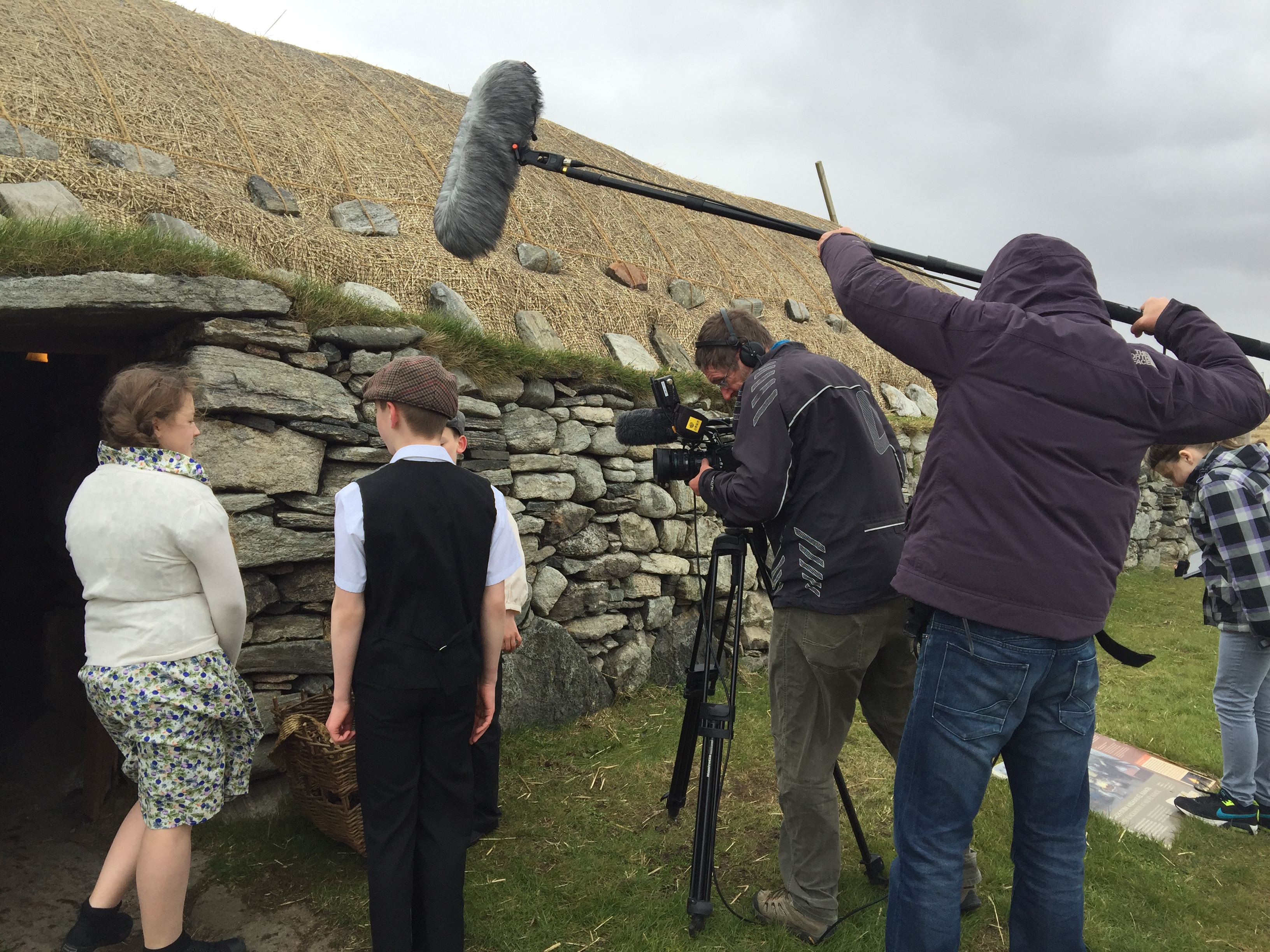 filming at Arnol Blackhouse