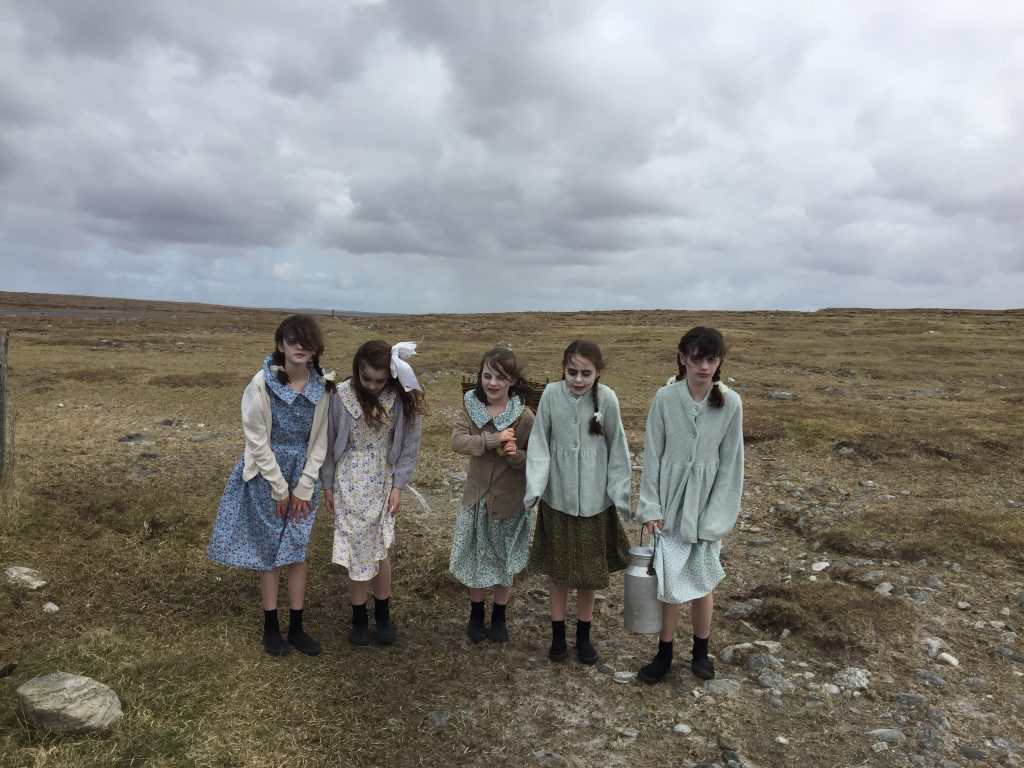 Junior guides at Arnol Blackhouse