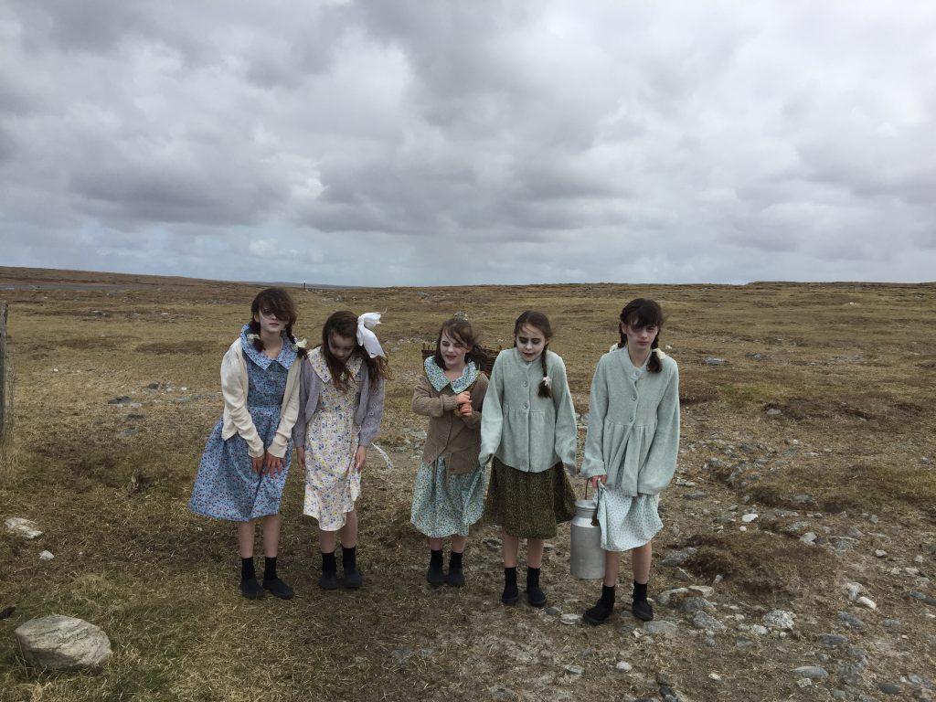 Junior guides at Arnol Blackhouse