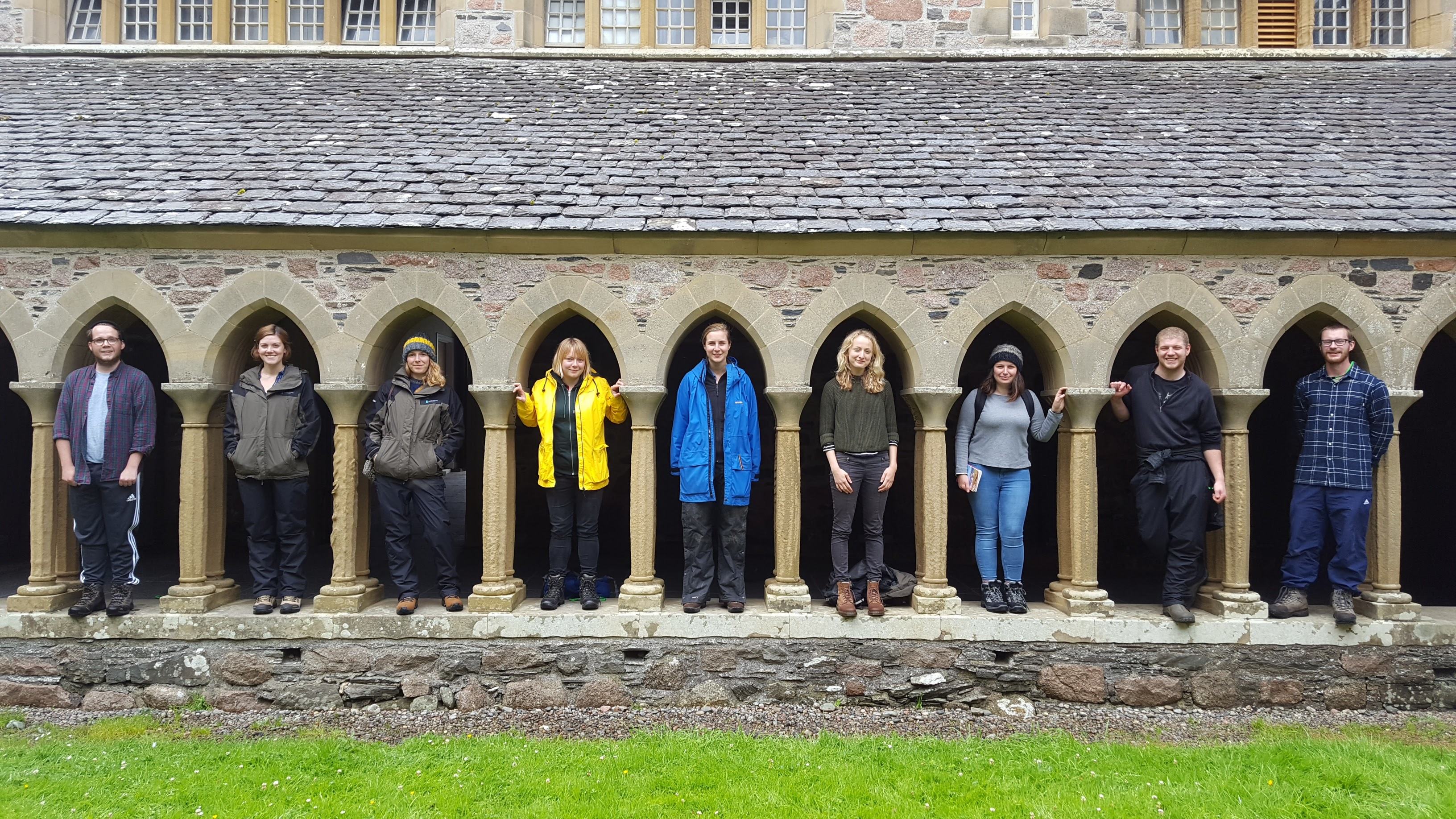 A group of HES employees at Iona Abbey