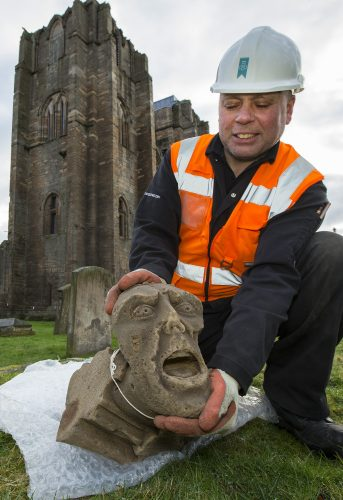 Elgin Cathedral shed new light on a 700 year Bishop alongside hundreds of other carvings with the innovative Stories in Stone exhibition