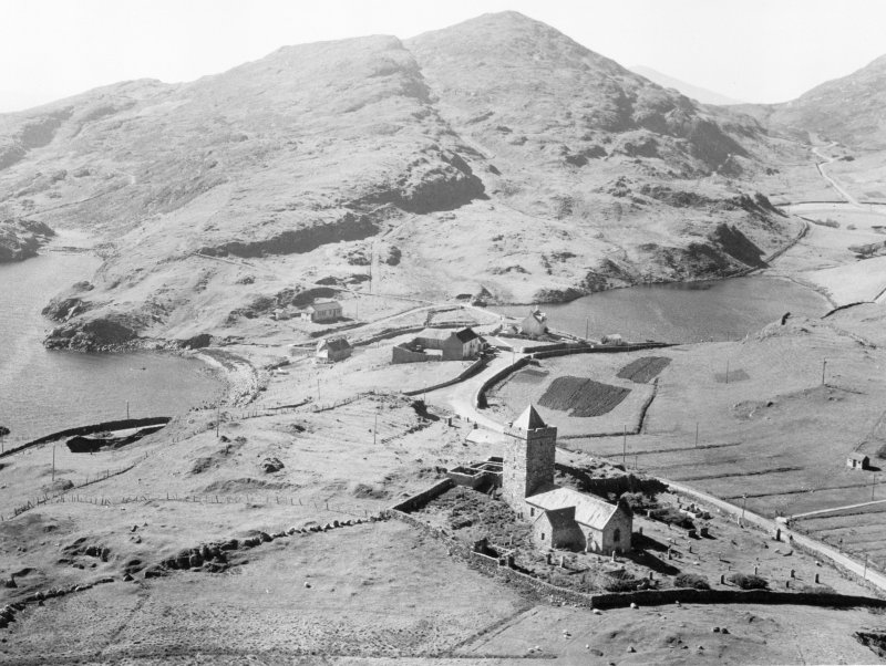 Oblique aerial view of St Clement