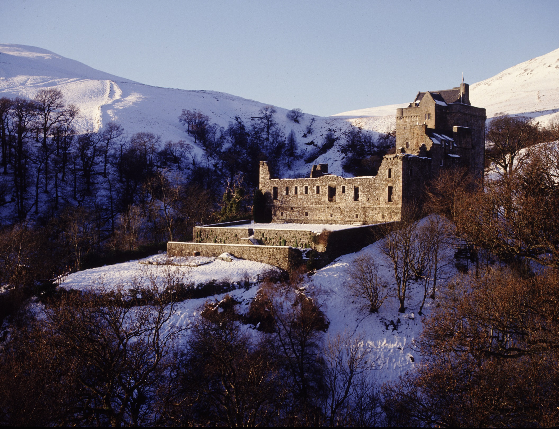 Castle Campbell in winter