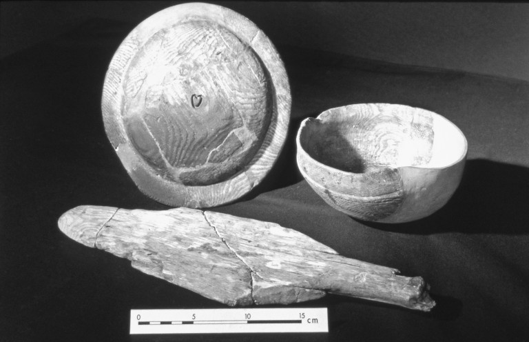 Bowl with heart carving, found at Threave castle