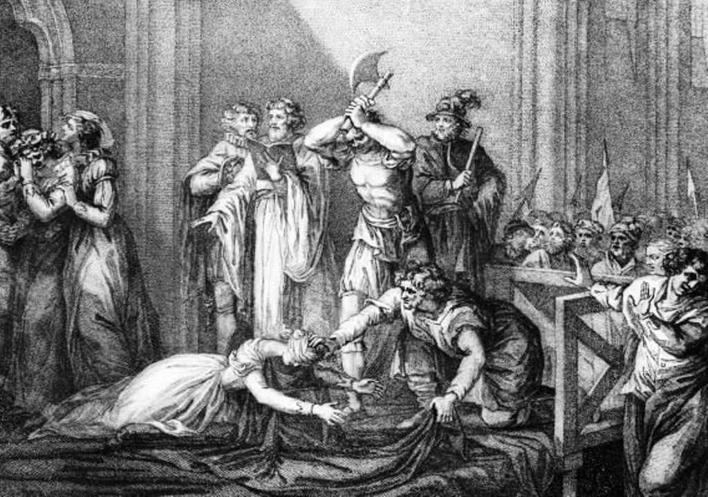 The Bloody Death Of Mary Queen Of Scots Historic