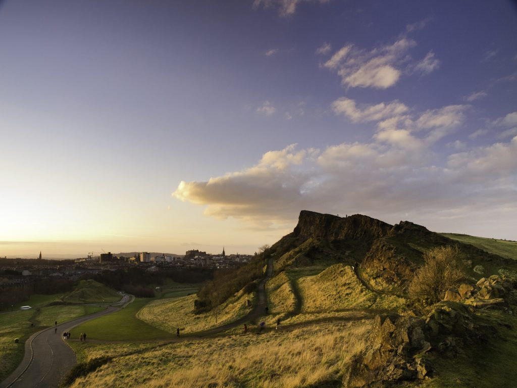 Holyrood park on a winter's day
