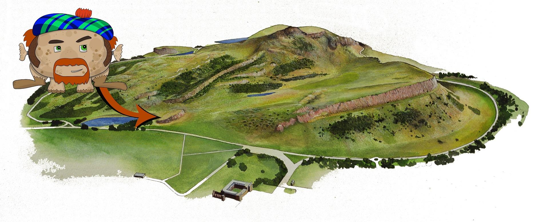 Haggis Knowe, the natural habitat of the Holyrood Haggis