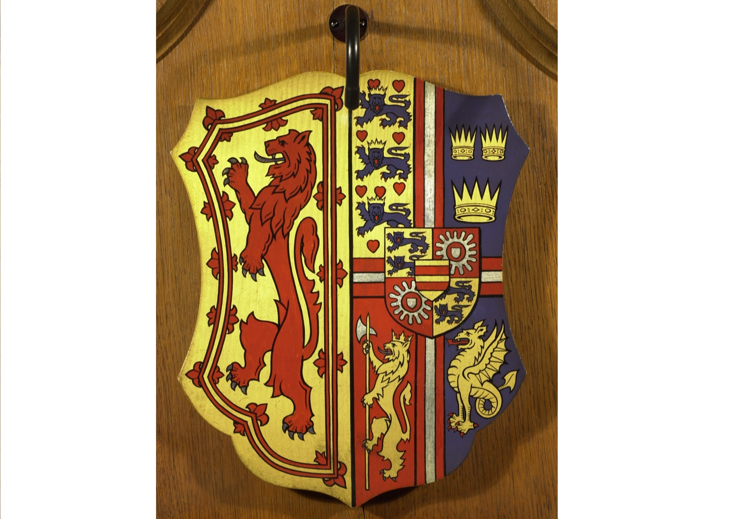 Crown crest of King James III at Edinburgh Castle