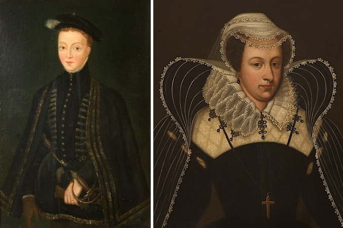 Portraits of Lord Darnley and Mary Queen of Scots