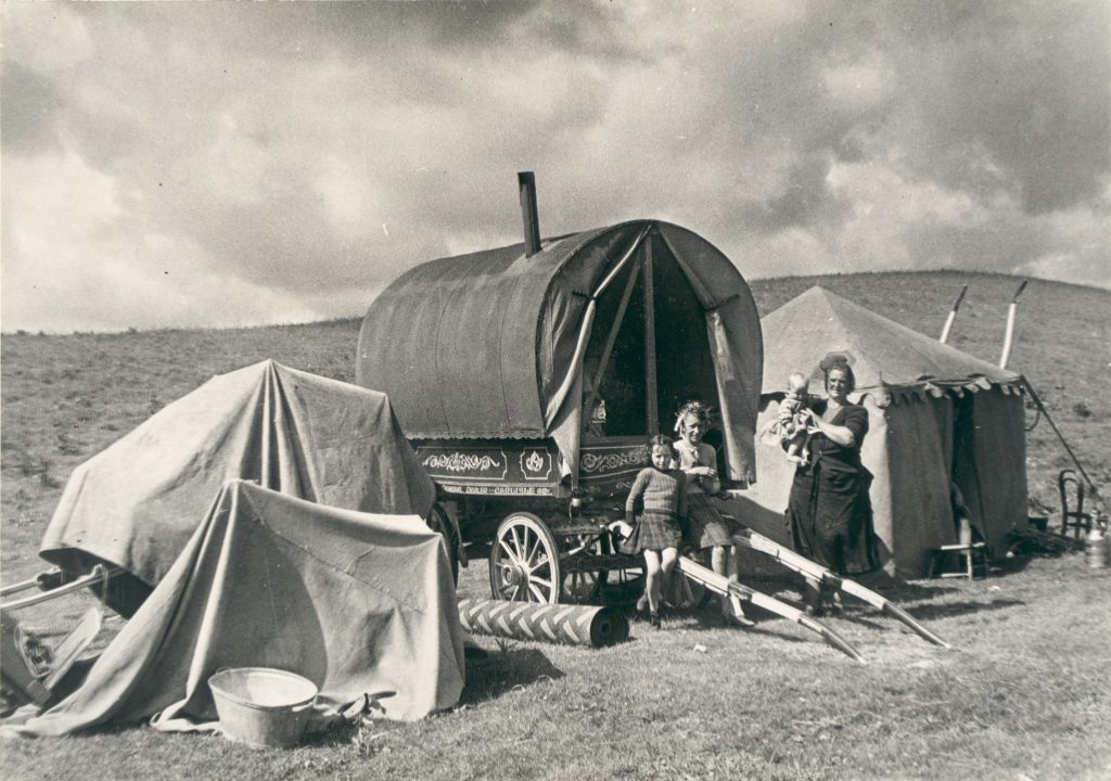 Travellers with their caravans