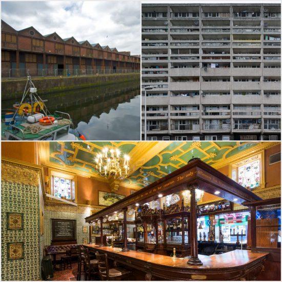 Collage showing the Sugar Warehouse, Banana Flats and Kenilworth Bar