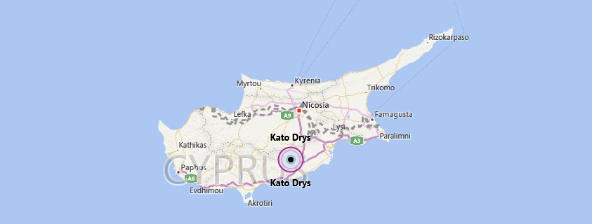 Kato Drys location. Bing Maps.
