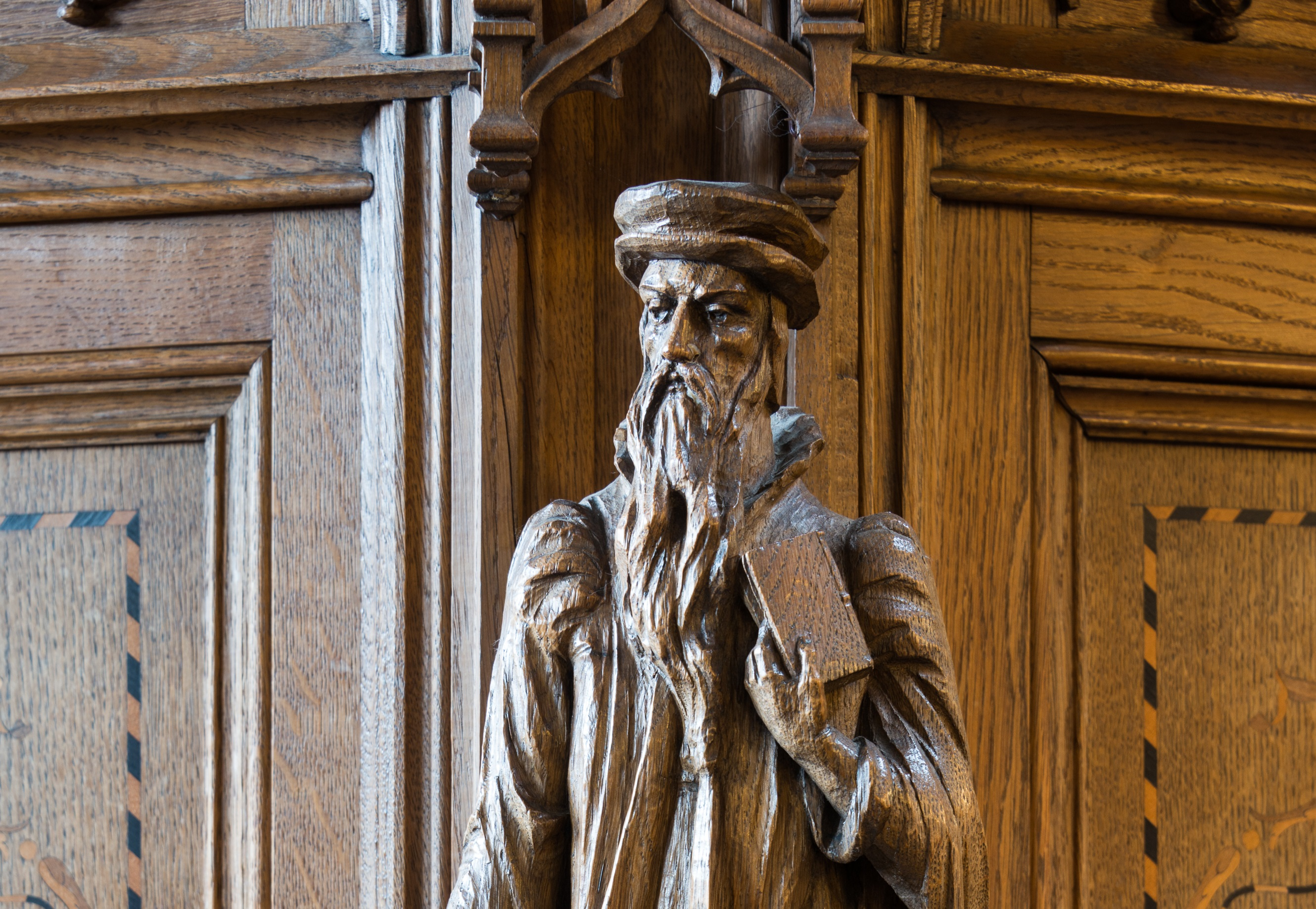 A statue of John Knox at Dunblane Cathedral