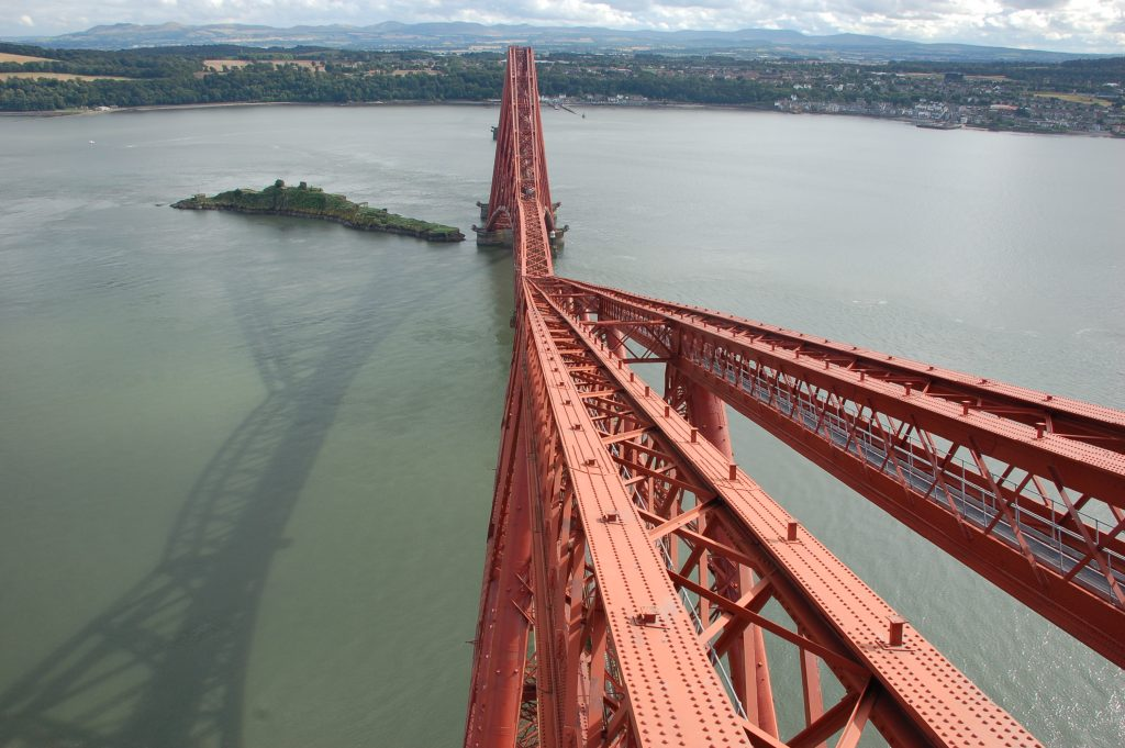 The Forth Bridge viewed from the top