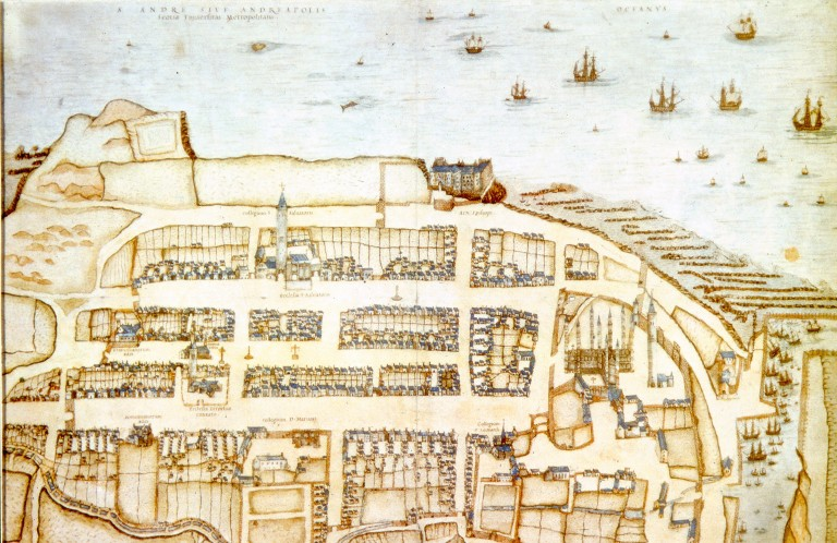 An old map of St Andrews