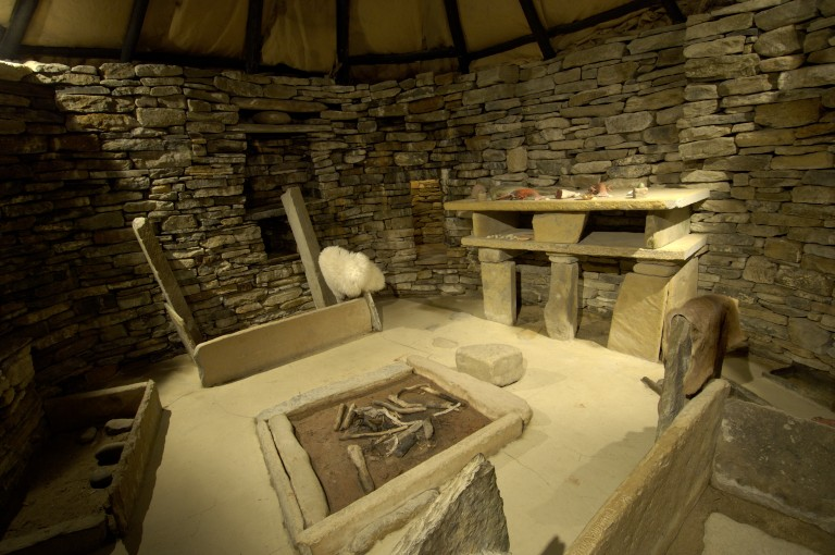 Inside The Replica Of Prehistoric House Seven At Skara Brae