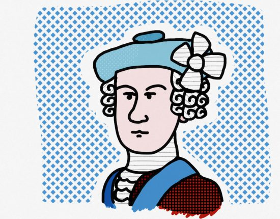 Image of a doodle of Bonnie Prince Charlie