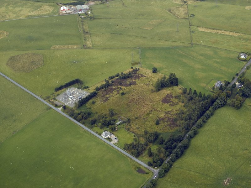 aerial view showing a patch of ground where a Roman camp used to be