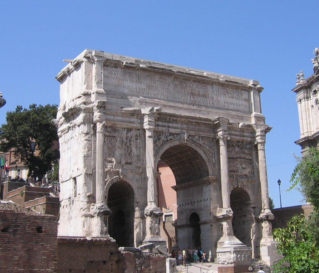 This triumphal arch in Rome commemorates Severus's victories, but once he became emperor he spent little time there
