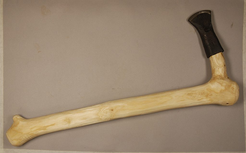 A replica of one of the axes used at Black Loch
