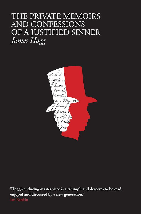 black book cover with a red and white outline of a man in a top hat in the centre