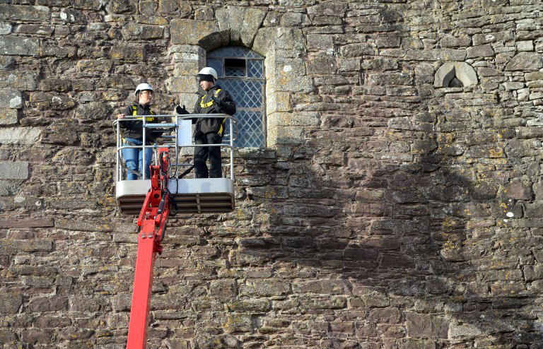 Assessment work at Doune Castle