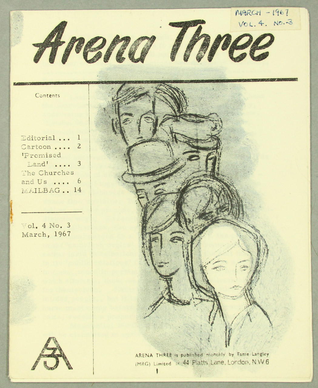 cover of a zine showing pencil drawings of a line of people