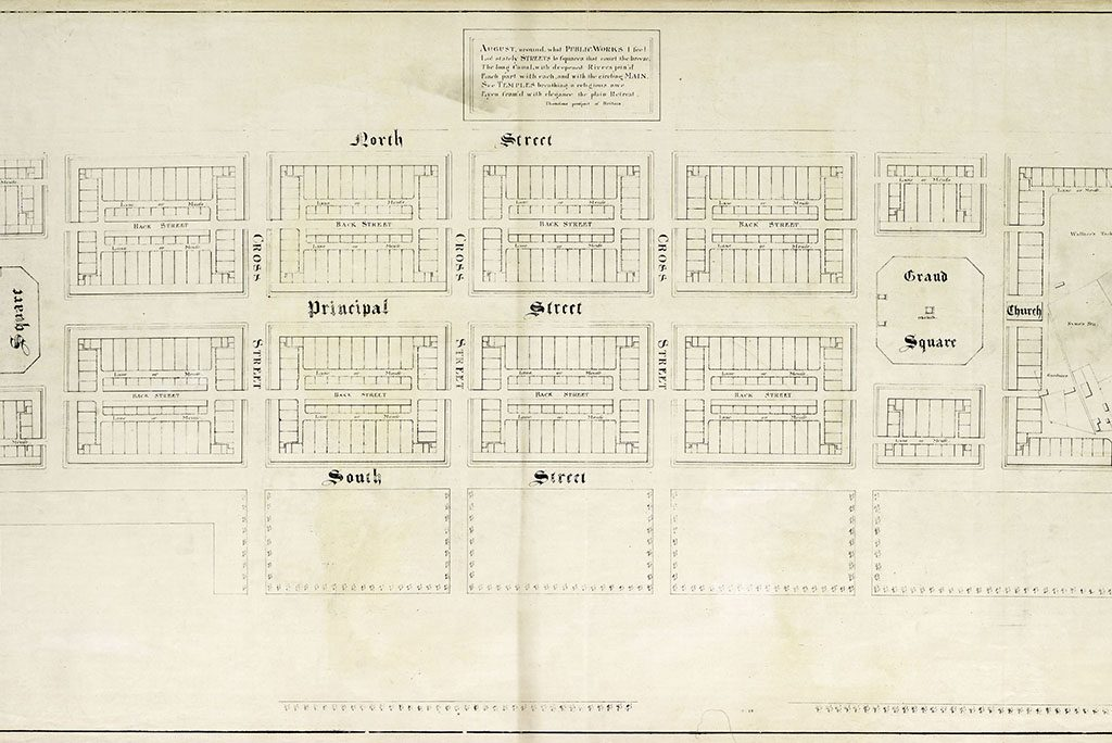 Dyeline copy of Craig's plan of New Town, 1767.