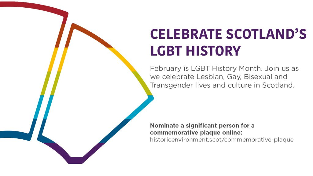 "Image bearing the text ""Celebrate Scotland's LGBT History"""