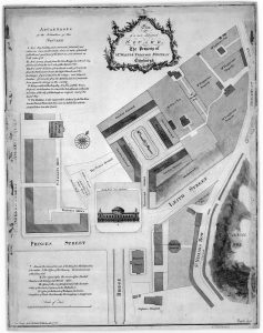 St James Square Plan by James Craig Titled: 'Plan of a new designed square. The property of Mr Walter Ferguson Writer in Edinburgh'.