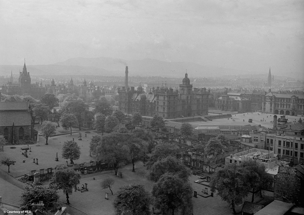 View of George Heriot's school in Edinburgh as it was in 1939