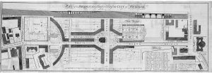 Plan for Improving the City of Edinburgh, 1786 By James Craig. This shows James Craig's plan to 'bridge' the Cowgate and make access to the southern suburbs much easier.