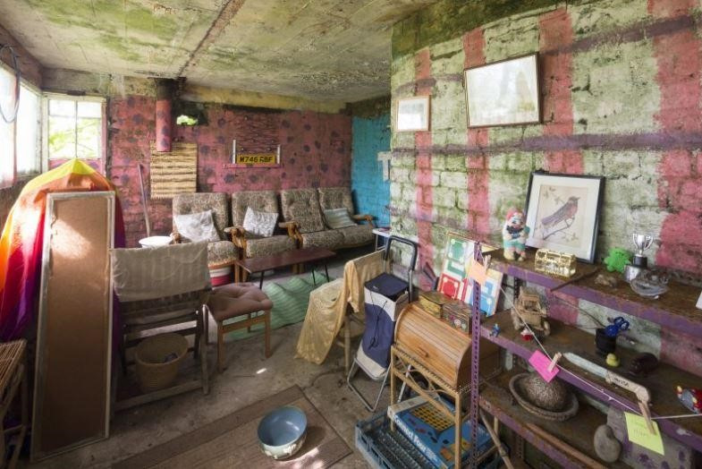 interior of battery observation post at Ardhallow